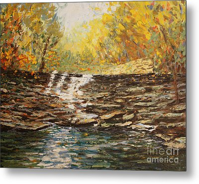 Boone County In Fall Metal Print by Terri Maddin-Miller