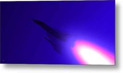 Boosted - Mirage - Blue Metal Print by Marcello Cicchini