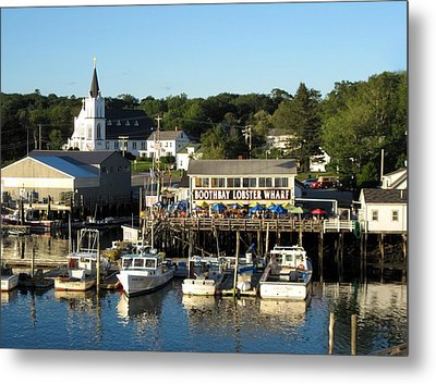 Boothbay Lobster Wharf Maine Metal Print by Patricia E Sundik
