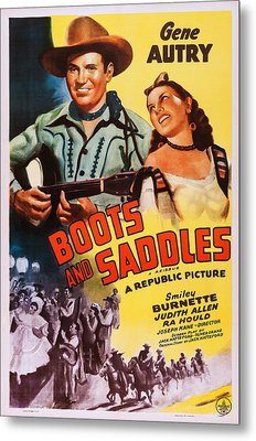 Boots And Saddles, Us Poster, Top Metal Print by Everett