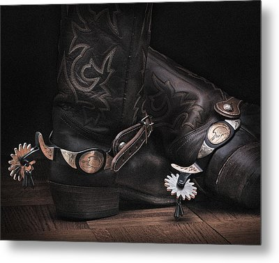 Metal Print featuring the photograph Boots And Spurs by Krasimir Tolev