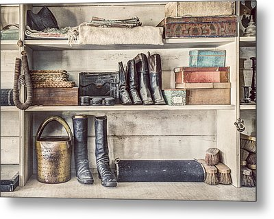 Boots And Things - Old General Store Metal Print by Gary Heller