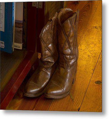 Boots Not Made For Walking Metal Print by Jean Noren