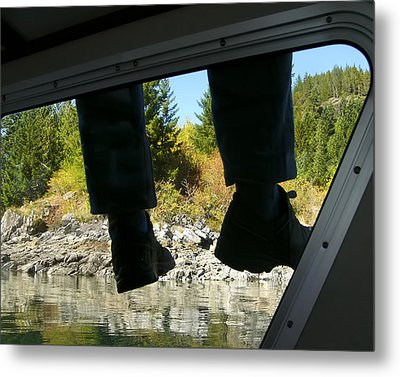 Metal Print featuring the photograph Boots by Rhonda McDougall