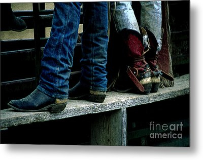 Boots Tell The Story Metal Print by Bob Christopher