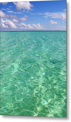 Bora Bora Green Water II Metal Print by Eva Kaufman