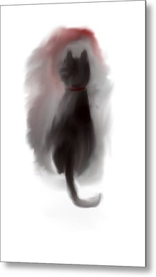 Bored Kitty Cat Metal Print by Jessica Wright