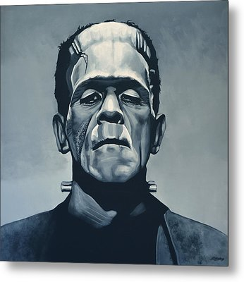Boris Karloff As Frankenstein  Metal Print by Paul Meijering