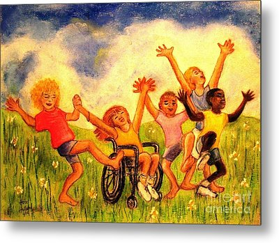 Born To Be Free Metal Print by Hazel Holland