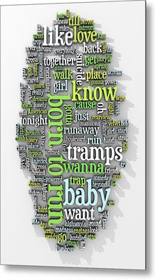 Born To Run Metal Print