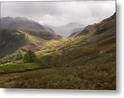 Borrowdale Towards Great Gable Metal Print by Pete Hemington