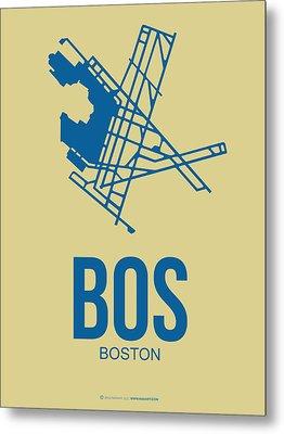 Bos Boston Airport Poster 3 Metal Print