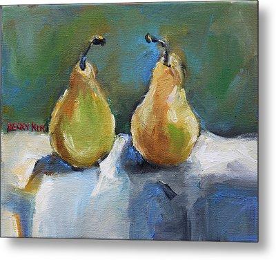 Bosc Pears Metal Print by Becky Kim