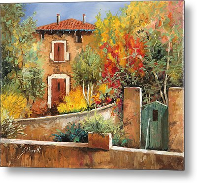 Bosco Giallo Metal Print