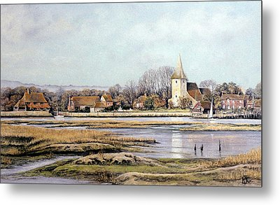 Bosham Harbour Metal Print by Rosemary Colyer