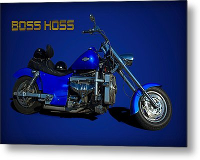 Boss Hoss Chevy V8 Motorcycle Metal Print by Tim McCullough