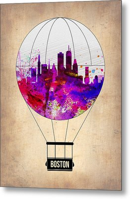 Boston Air Balloon Metal Print by Naxart Studio