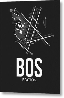 Boston Airport Poster 1 Metal Print by Naxart Studio