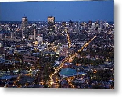 Boston At Night From The Sw. Metal Print by Dave Cleaveland