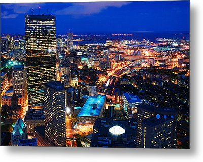 Metal Print featuring the photograph Boston At Night by James Kirkikis