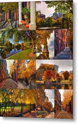 Boston Autumn Days Metal Print by Joann Vitali