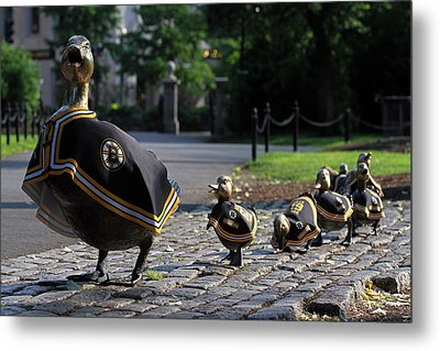 Boston Bruins Ducklings Metal Print