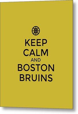 Boston Bruins Poster Typography Metal Print