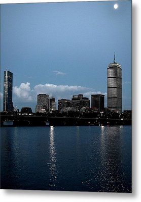 Boston By Moonlight Metal Print by Toby McGuire