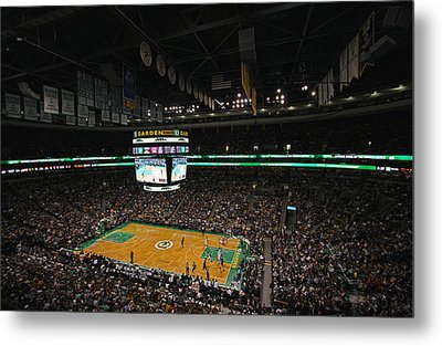 Boston Celtics Basketball Metal Print by Juergen Roth
