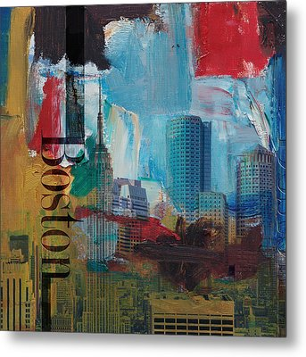 Boston City Collage 3 Metal Print by Corporate Art Task Force