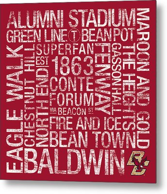Boston College College Colors Subway Art Metal Print by Replay Photos