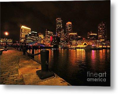 Boston Fan Pier City Skyline  Metal Print by Catherine Reusch Daley