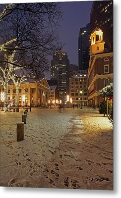 Boston Faneuil Hall And Quincy Market Metal Print by Juergen Roth