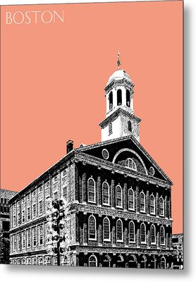Boston Faneuil Hall - Salmon Metal Print