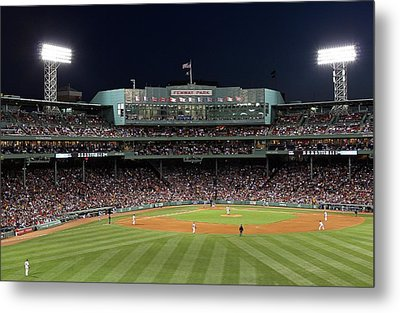 Boston Fenway Park Baseball Metal Print