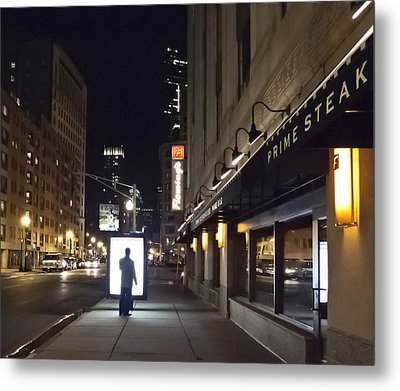 Boston Glow Metal Print