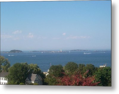 Metal Print featuring the photograph Boston Harbor From Hull by Barbara McDevitt