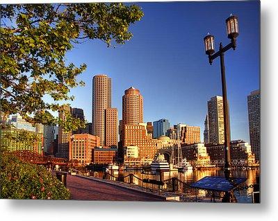 Boston Harbor Sunrise Metal Print by Joann Vitali
