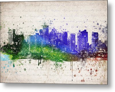 Boston In Color Metal Print