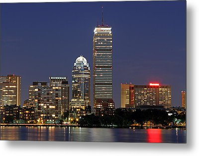 Boston Landmarks And Sheraton Hotel Metal Print by Juergen Roth