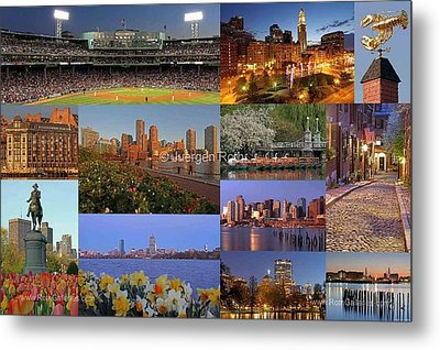 Boston Landmarks Photography  Metal Print by Juergen Roth