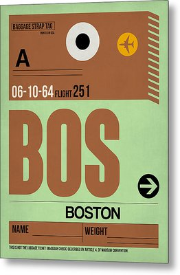 Boston Luggage Poster 1 Metal Print