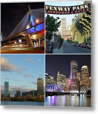 Boston Ma Collage Metal Print by Toby McGuire