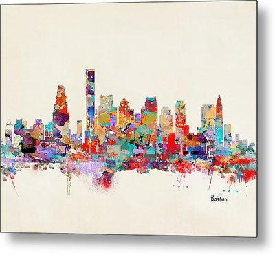 Boston Massachusetts Skyline Metal Print by Bri B