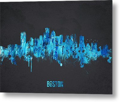 Boston Massachusetts Usa Metal Print by Aged Pixel