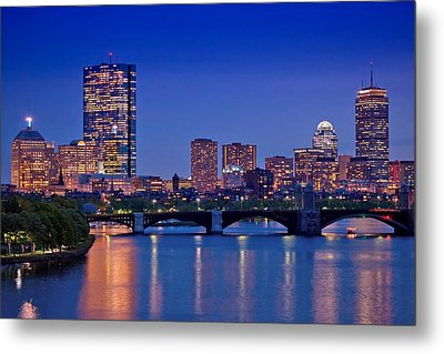 Boston Nights 2 Metal Print by Joann Vitali