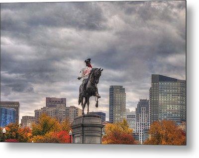 Boston Public Garden In Autumn Metal Print by Joann Vitali