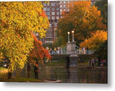 Boston Public Garden Lagoon Bridge Metal Print by Joann Vitali