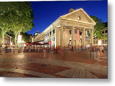 Boston Quincy Market Near Faneuil Hall Metal Print