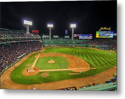 Boston Red Sox And New York Yankees At Fenway Park - Art Metal Print